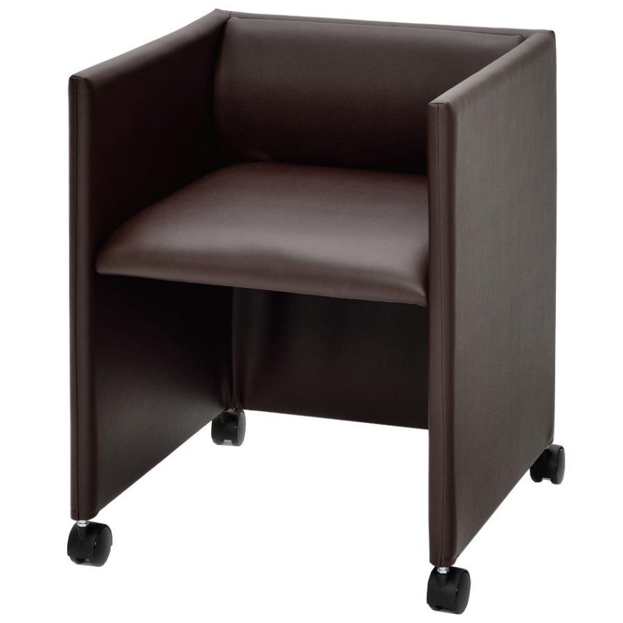 キャスター付き応接チェア ダークブラウン RFC-FPRPDB アールエフヤマカワ RFyamakawa 椅子 オフィス家具 会議用 ミーティングチェア