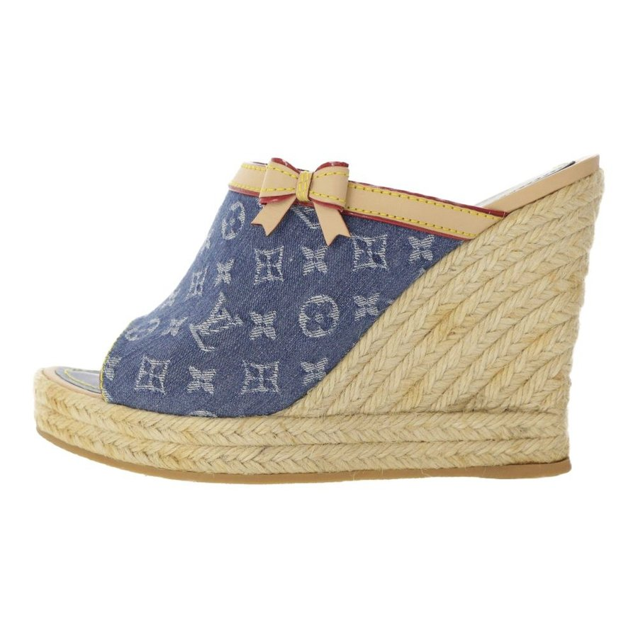 いいスタイル ルイヴィトン モノグラム・デニム ウェッジソール・サンダル靴 ミュール エスパドリーユ/36/LOUIS VUITTON/RF2/b190525/291715, WUTTY & Co. 751cb320