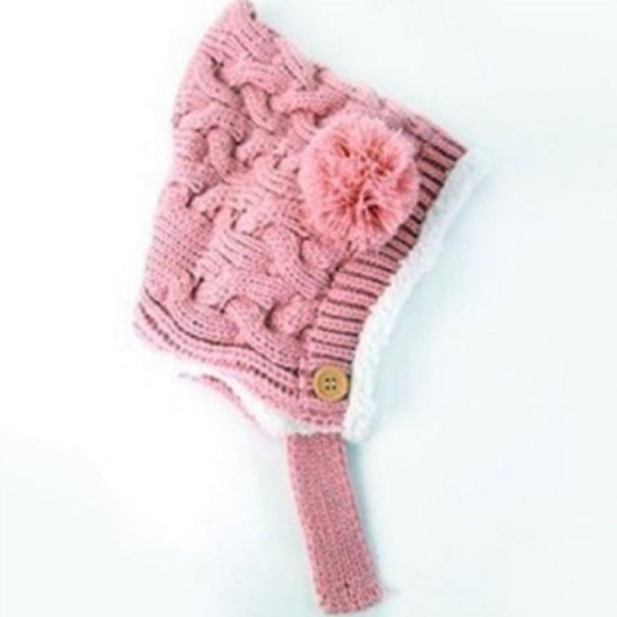 ニット帽 ベビー ベビーニット帽 かわいい 防寒 暖かい くま ぼんぼん|ribution|04