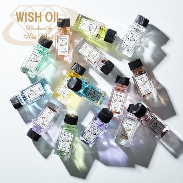 アロマオイル 精油 癒し パワーストーン WISH OIL 全15種類セット&オリジナルノベルティプレゼント付き