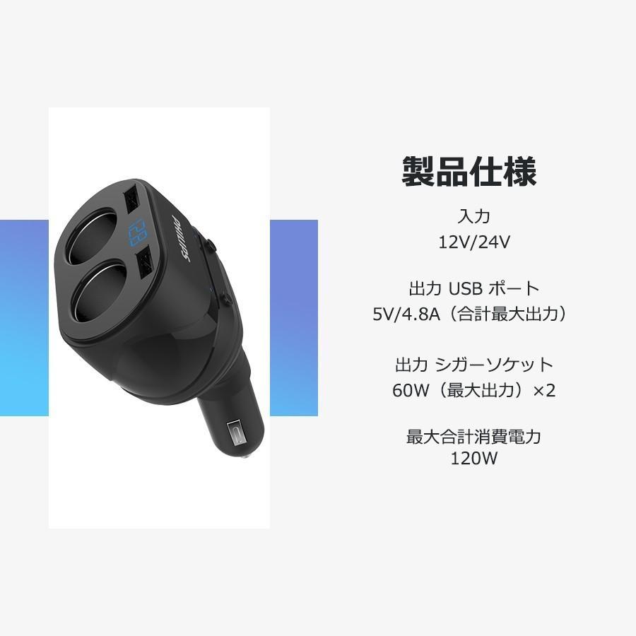 シガー ソケット usb 充電器 2連 増設 2ポート カー チャージャー 車載用 カー用 3.1A 12v 24v 車用 スマホ タブレット iphone|richgo-japan|02