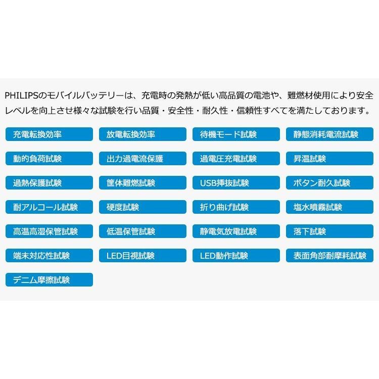 モバイルバッテリー iPhone 充電ケーブル 内蔵 大容量 10000mAh 薄型 軽量 コンパクト iPad Android USBポート 搭載 送料無料 PHILIPS ブランド|richgo-japan|08