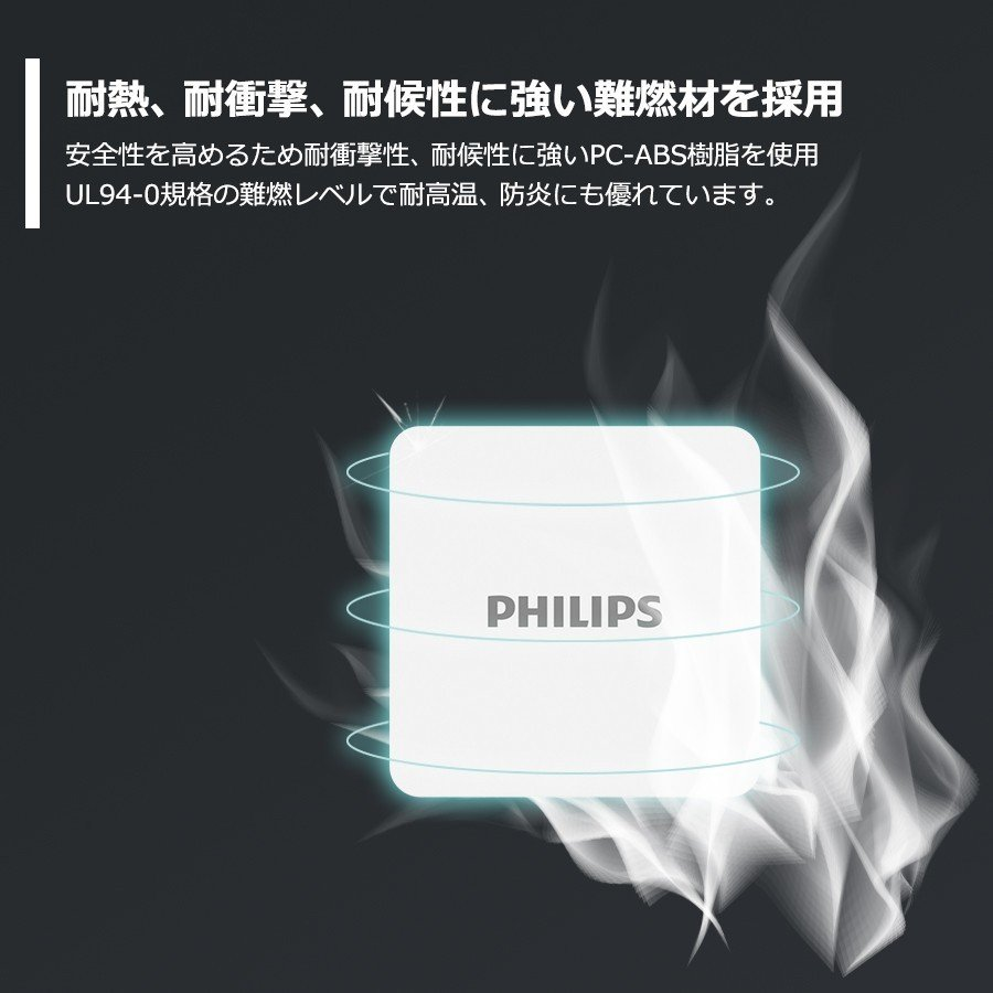 iPhone Android 対応 USB Type-C 急速 充電器 4ポート 合計 最大 66W 出力 PD QC 対応 コンパクト 安心 安全 PSE認証 PHILIPS 直販店 richgo-japan 11