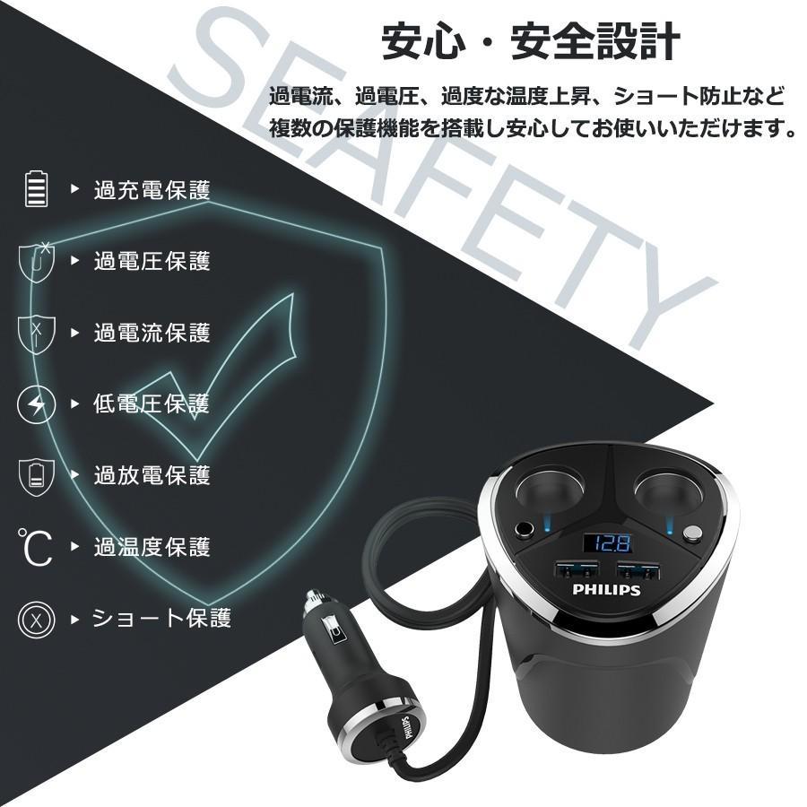シガー ソケット usb 充電器 2連 増設 分配器 コップ型 カー チャージャー  車載用 カー用 3.4A 12v 24v 車対応 スマホ タブレット iphone Android スイッチ付き|richgo-japan|11