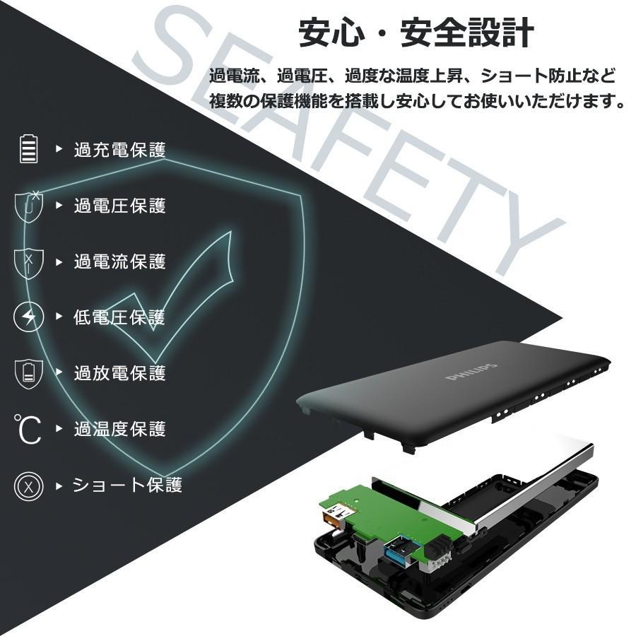 モバイルバッテリー 大容量 10000mAh スマホ充電器 軽量 PD QC 対応 最大18Wh type-C 入出力 3台同時充電 急速 PSE認証済み iPhone/iPad/Android 各種対応|richgo-japan|13