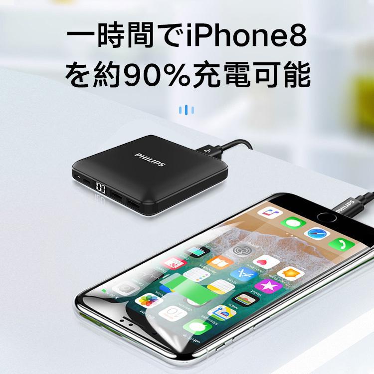 モバイルバッテリー 大容量 10000mAh 急速充電 軽量 小型 安全 コンパクト PSE適合品 2台同時充電 Type-C 入力 iPhone/iPad/Android 各種対応 送料無料 richgo-japan 10