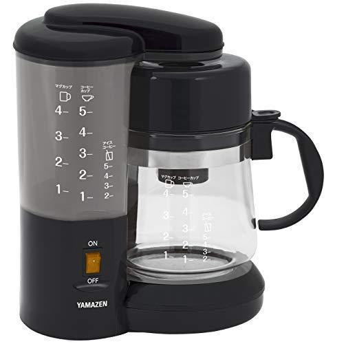 [山善] コーヒーメーカー 650ml 5杯用 ドリップ式 アイスコーヒー ブラック YCA-501(B) [メーカー保証1年]|riftencom