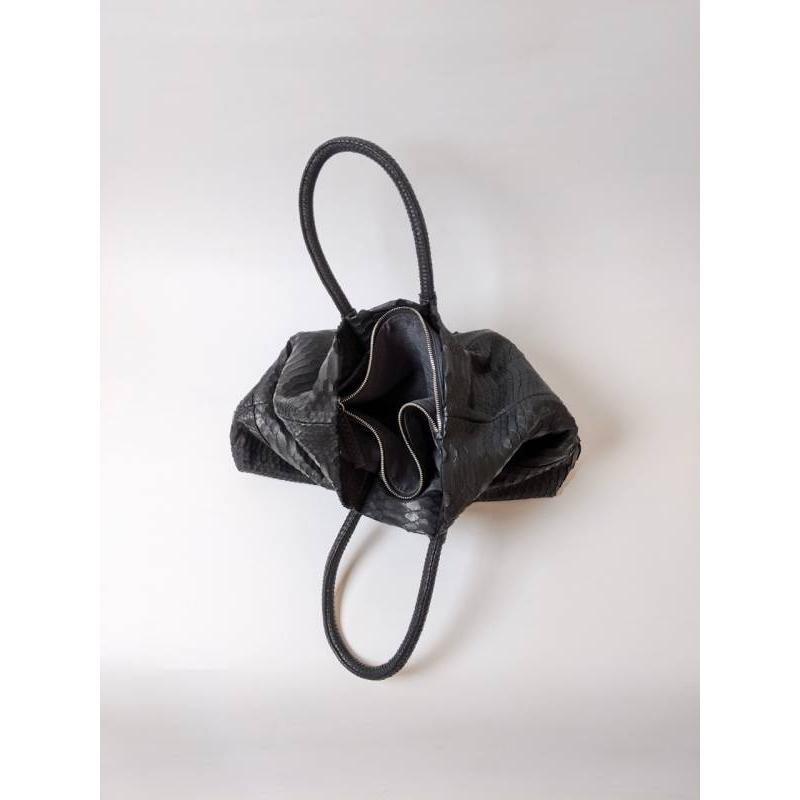 ダイヤモンドパイソントートバッグ ナチュラル/ブラック|riikomode|10