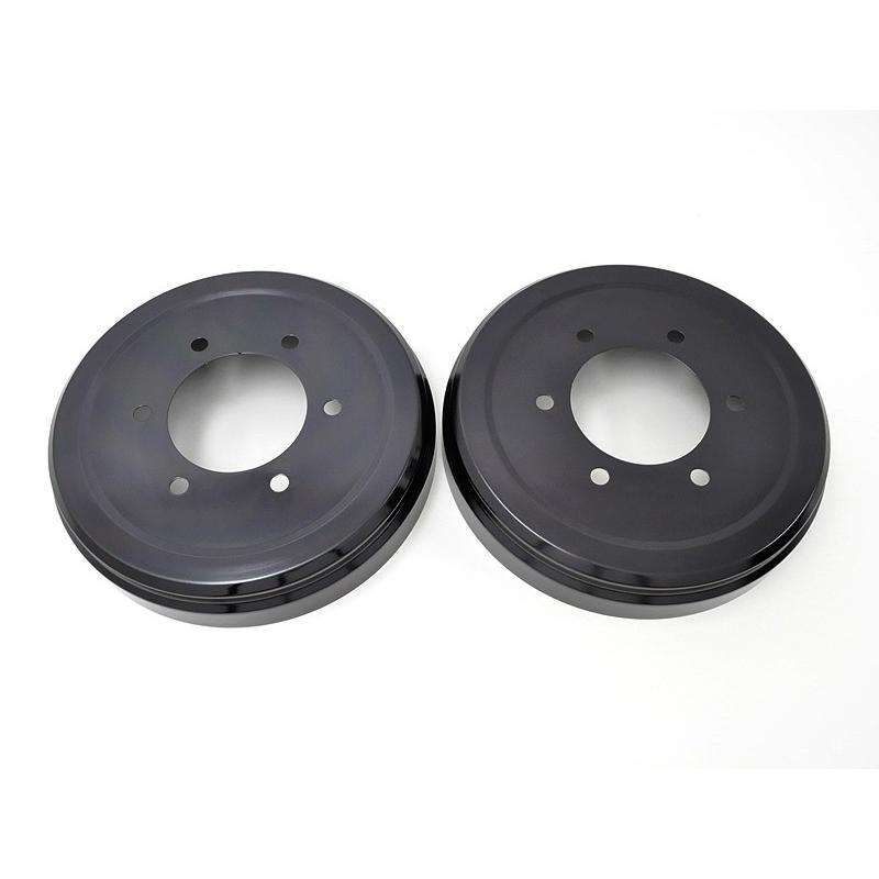リムコーポレーション NV350キャラバン 2/4WD用 Rim ドラムカバー 2枚【ブラックアルマイト】   リア用|rim