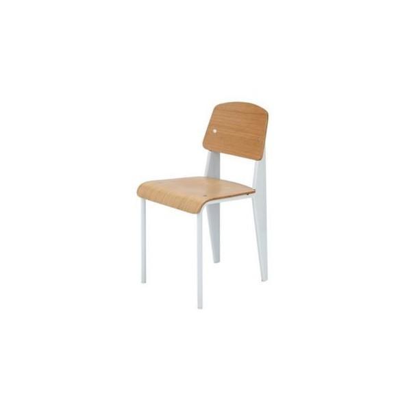 《学生時代の教室にあるような懐かしいデザインの椅子》ジャン・プルーヴェ 《学生時代の教室にあるような懐かしいデザインの椅子》ジャン・プルーヴェ スタンダードチェア Standard ChairDC-595-WHホワイト