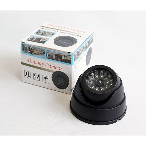 防犯カメラ 監視カメラ レプリカ 激安 赤色LED搭載 ドーム型ダミーカメラRI-DC02|ring-g|02