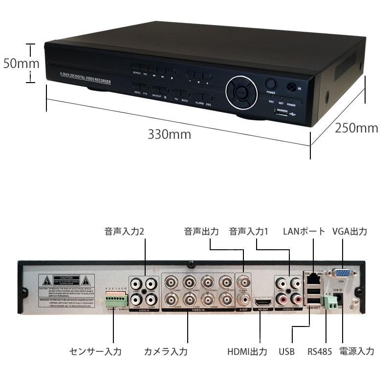 防犯カメラ レコーダー デジタルレコーダー 録画機 AHD/TVI/CVI/アナログ(CVBS) 4CH LS-HVR9204 2TB付 ring-g 09