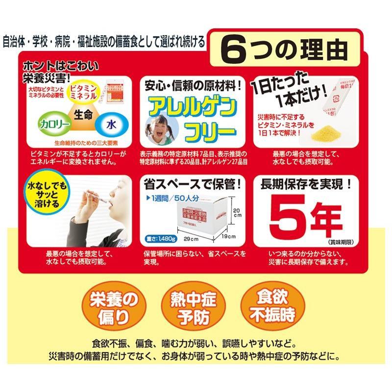 非常食 単品 防災 保存食 備蓄 ビタミン ミネラル 摂取 栄養機能食品 非常時・災害時 栄養補給食品(7包入り) ring-g 03