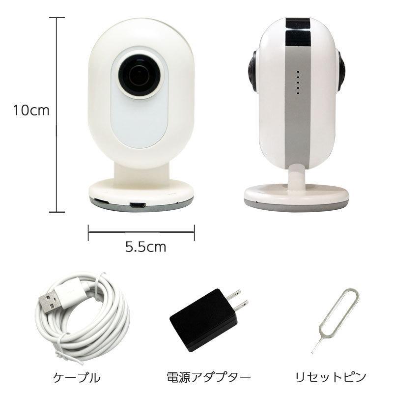 防犯カメラ 家庭用 ワイヤレス 見守りカメラ ペットカメラ Wi-Fi スマホ  iPhone 360°全天球カメラ EPN-C13|ring-g|14