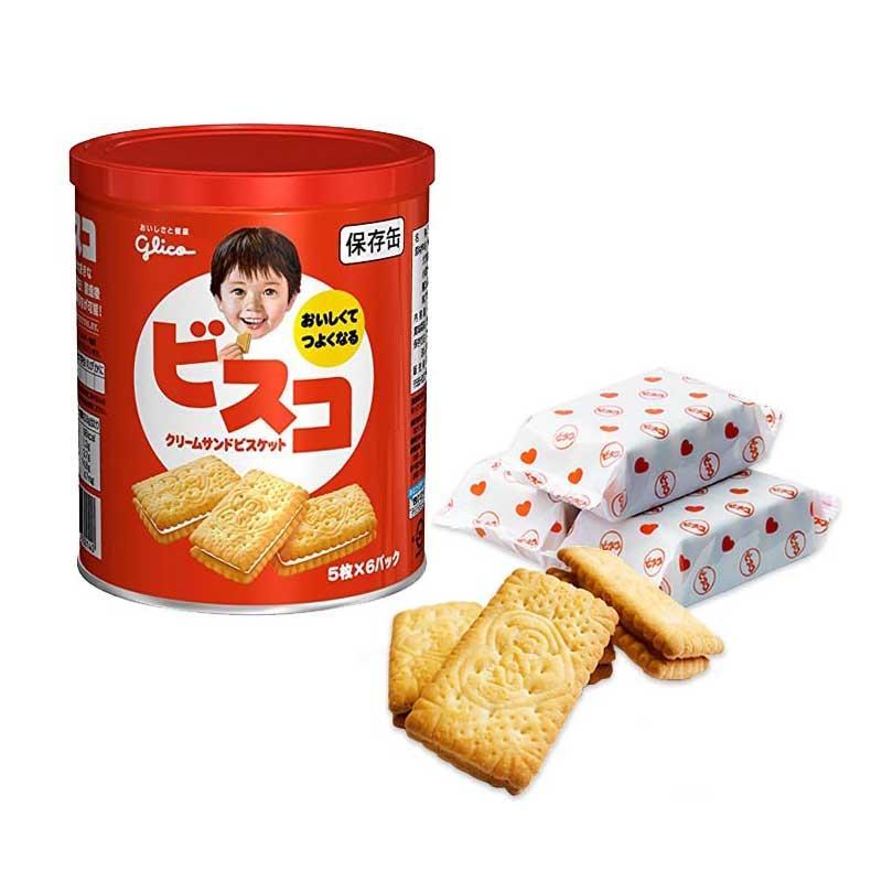 ビスコ保存缶 グリコ 非常食 保存食 5年保存 備蓄 おいしい お菓子 ビスケット|ring-g|02
