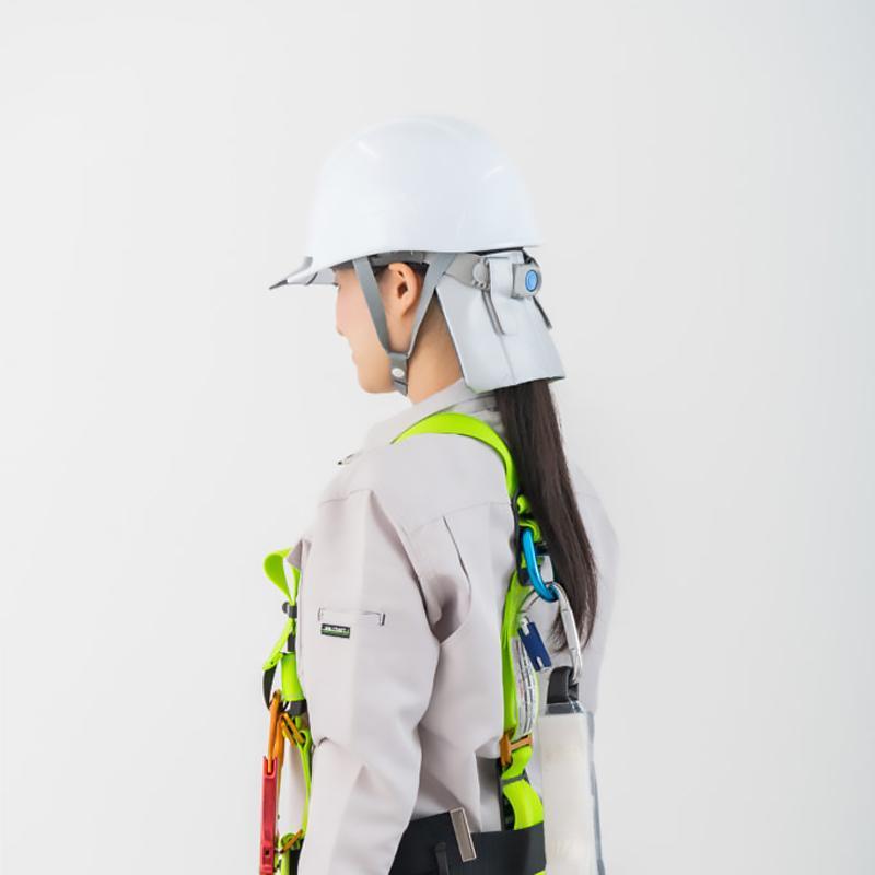 メール便対応 熱中症対策 ヘルメット 建設業 現場 農作業 工事 クール 暑さ対策 熱中症対策グッズ そーかいくんII|ring-g|06