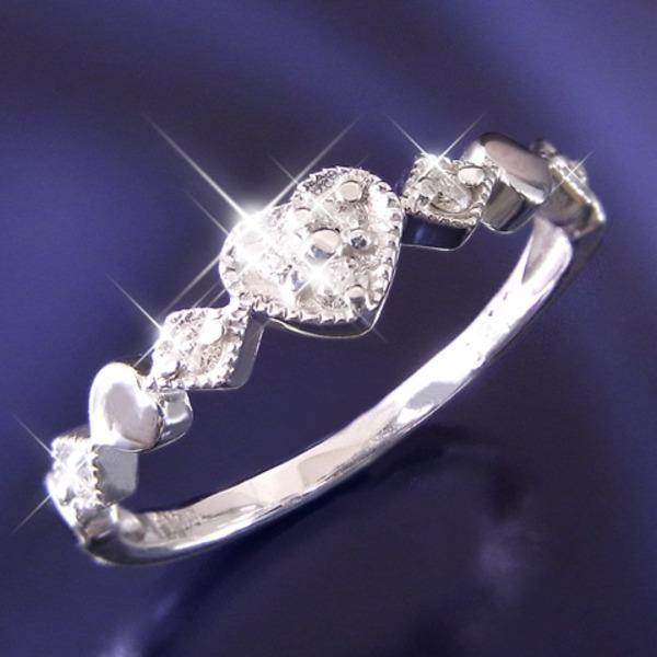 人気定番 ハートダイヤリング 指輪 セブンストーンリング 17号, 刺繍半襟 ひめ吉 d051ca63