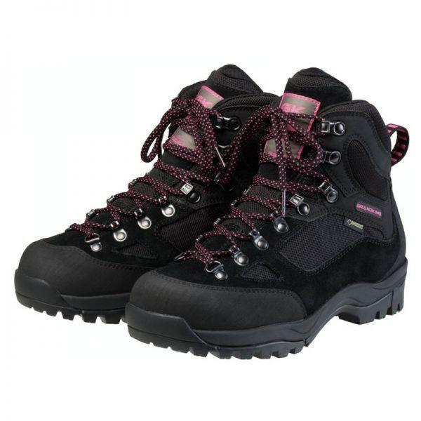 トレッキングシューズ/登山靴 〔ブラックピンク 24.5cm〕 レディース ゴアテックス GRANDKING グランドキング GK8XW