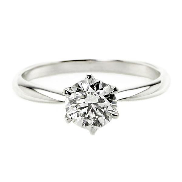 熱い販売 ダイヤモンド リング 一粒 1カラット 8号 プラチナPt900 Hカラー SI2クラス Excellent エクセレント ダイヤリング 指輪 大粒 1ct 鑑定書付き, 松岡町 28a60f02