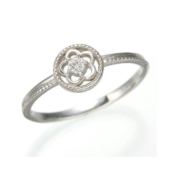 人気の K10 ホワイトゴールド ダイヤリング 指輪 スプリングリング 184285 13号, Lezzetli レゼッティ d85e9b49