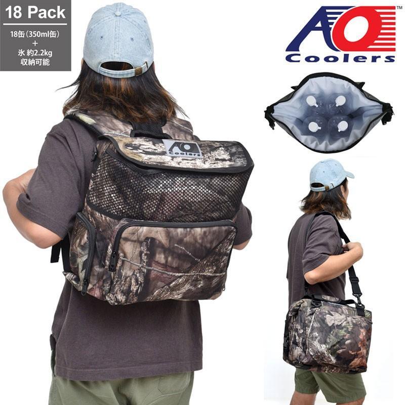 AOクーラー AO coolers 18パックバックパックソフトクーラー モッシーオーク ブレイクアップ メンズ レディース