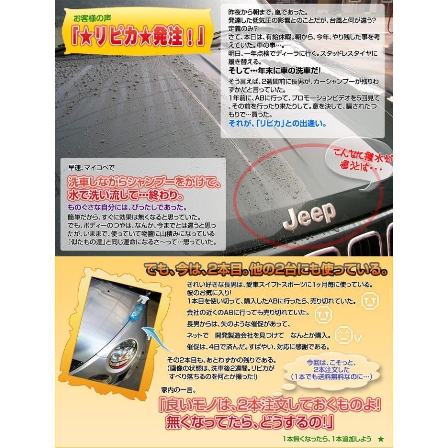 カーワックス 最強 液体 スプレー カーシャンプー 撥水 コーティング剤 車 業務用 洗車 ガラスコーティング 水垢 リピカ ( コーティングカーシャンプー 500ml )|ripicar|12