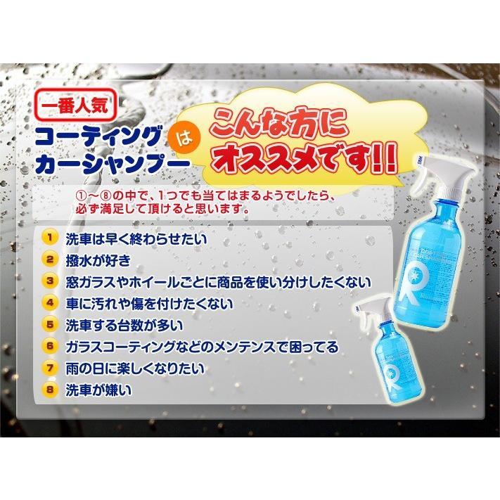 カーワックス 最強 液体 スプレー カーシャンプー 撥水 コーティング剤 車 業務用 洗車 ガラスコーティング 水垢 リピカ ( コーティングカーシャンプー 500ml )|ripicar|15