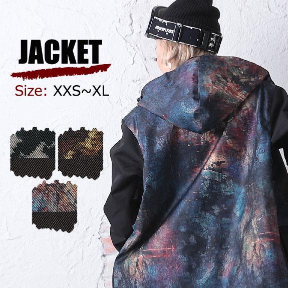 スノーボードウェア メンズ ジャケット 2019-20新作 ダブルレイ W_RAY スノボ ウェア レディース ユニセックス 迷彩 総柄 ジャケット リアリズム j28-30