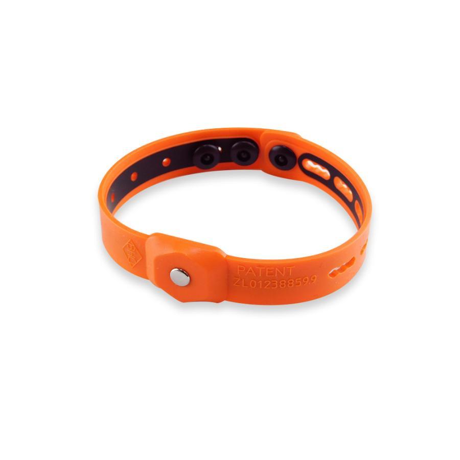 riraku-life リラクリフェ 静電気除去ブレスレット ヘルスリング バンド オレンジ 値下げ メーカー在庫限り品