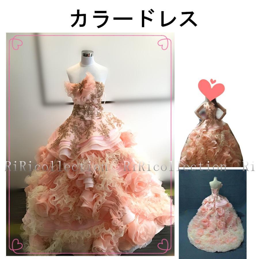 展示未使用品一点限り手縫いドレスオーダーメイド可能·ウェディングドレス花カラードレス