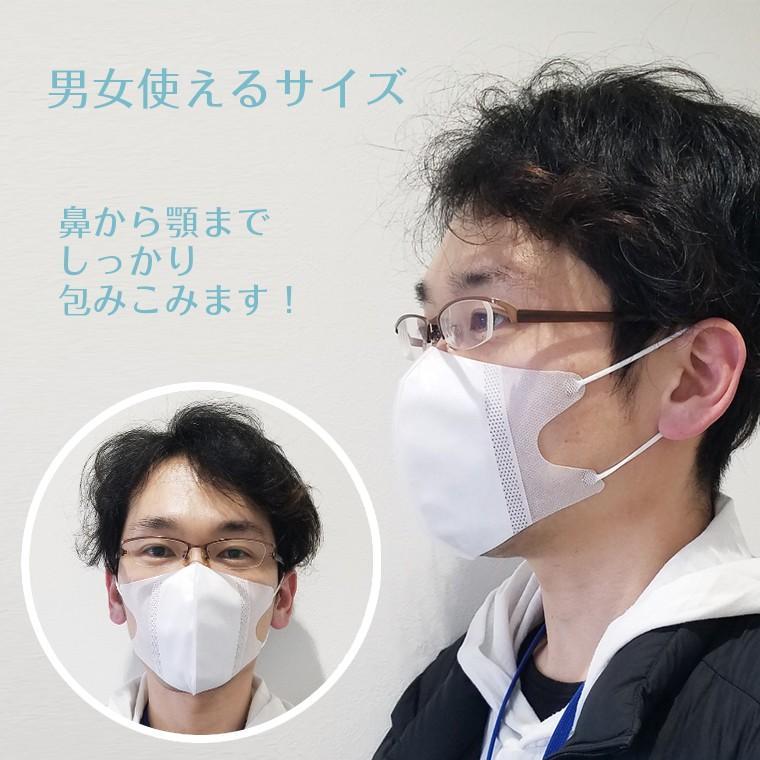 3D立体不織布マスク 10枚セット在庫あり 不織布 使い捨て 立体 大人用 男女兼用 防じん 飛沫 花粉 咳 ホワイト 白 小さめ 小顔 息がしやすい  呼吸が楽 送料無料 rirty 06