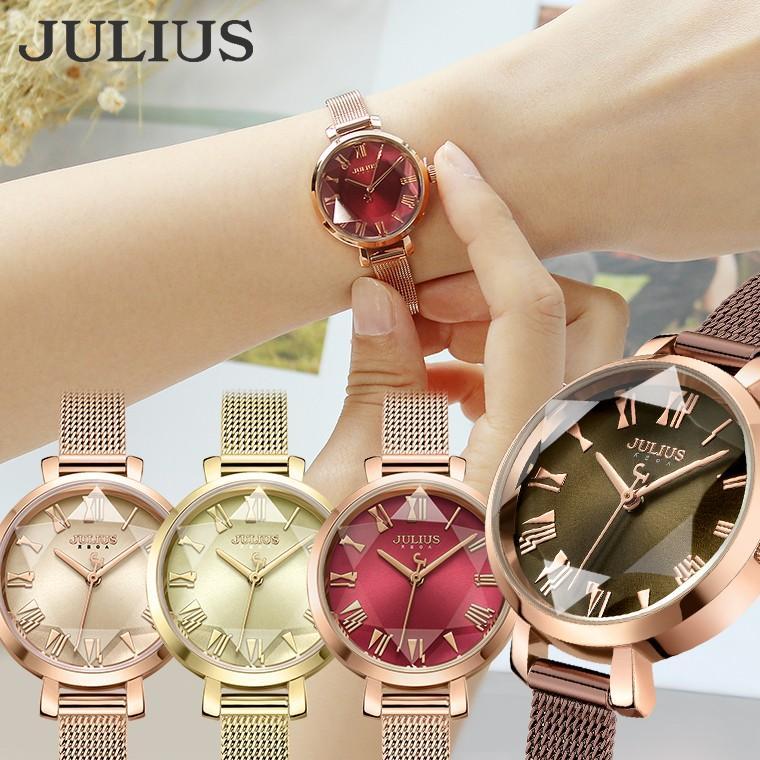 腕時計 レディース 防水 時計 おしゃれ ブランド シンプル 人気 オフィス ピンクゴールド 20代 30代 40代 50代 JULIUS プレゼント 母の日 ギフト|rirty