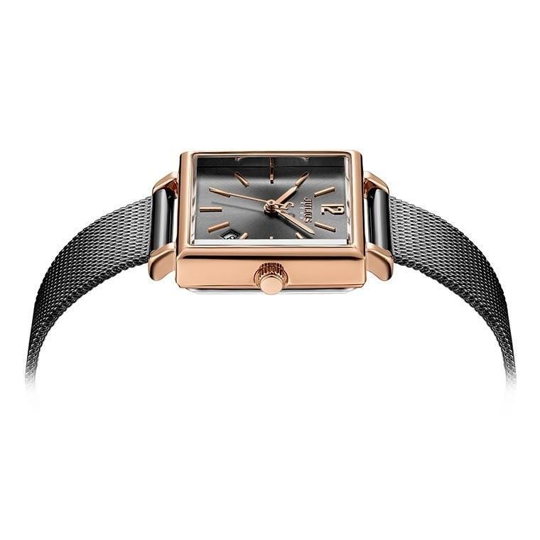 腕時計 レディース 時計 防水 ウォッチ おしゃれ シンプル  20代 30代 40代 50代 スクエア型 カレンダー JULIUS プレゼント 母の日 ギフト 四角 rirty 09