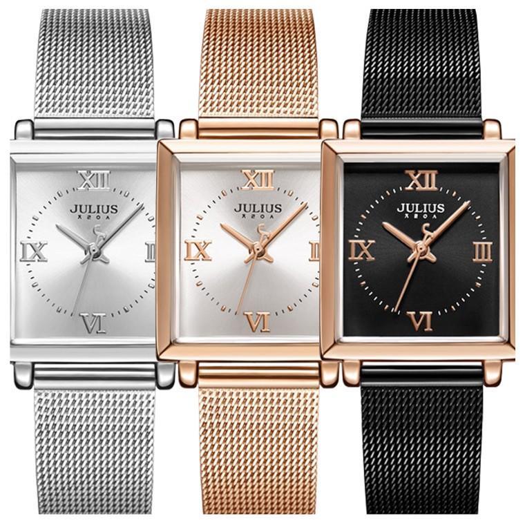 腕時計 レディース ブランド 防水 レディース腕時計 おしゃれ 時計 スクエア 四角 ミラネーゼ 人気 20代 30代 40代 JULIUS プレゼント 母の日 ギフト|rirty|02