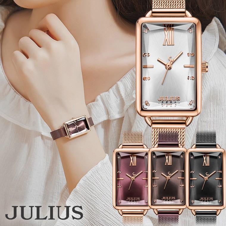 腕時計 レディース ブランド 防水 レディース腕時計 おしゃれ 人気 四角 スクエア 20代 30代 40代 50代 スクエア型 JULIUS プレゼント 母の日 ギフト|rirty