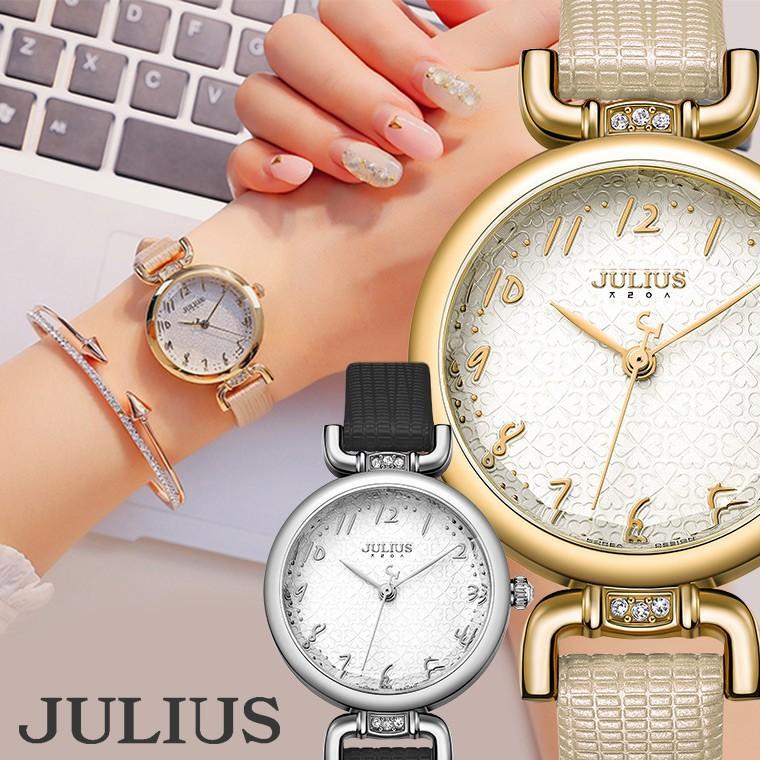 腕時計 レディース 時計 ブランド 防水 おしゃれ かわいい 30代 40代 50代 カジュアル 20代 オフィス クローバー JULIUS プレゼント 母の日 ギフト|rirty