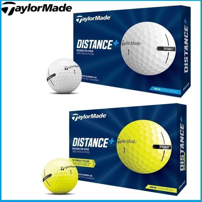 ☆2021 TaylorMade テーラーメイド SALE DISTANCE ディスタンスプラス ゴルフボール 秀逸 US仕様 1ダース 12球入り