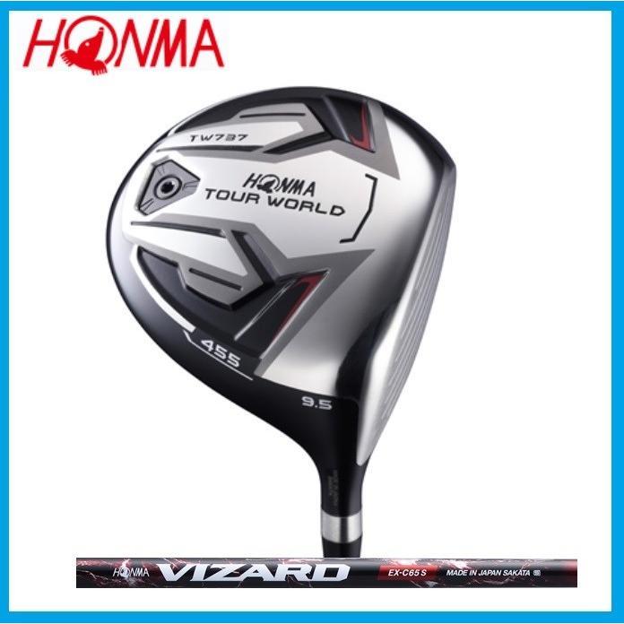 ☆ホンマゴルフ☆HONMA TOUR WORLD ツアーワールド TW737 455 ドライバー VIZARD EX-C カーボンシャフト