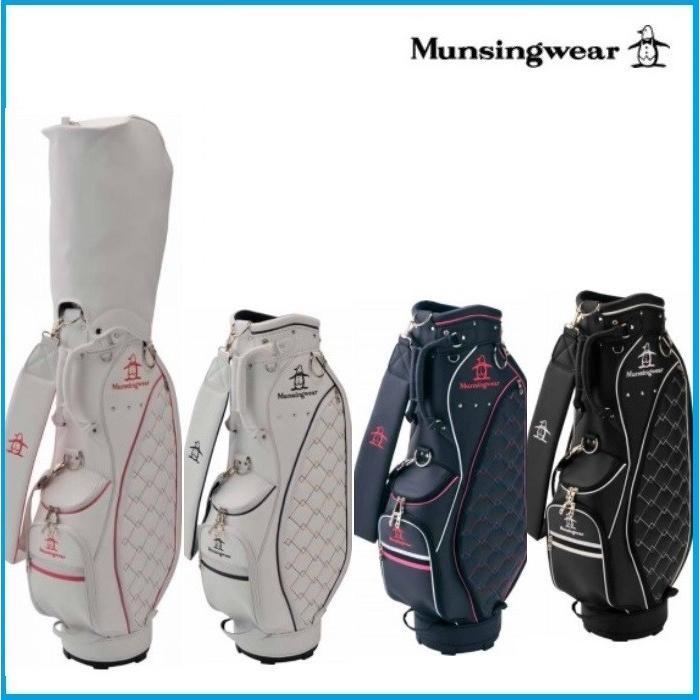 ☆レディース 2019年 Munsing wear マンシングウェア MQCNJJ02 キャディーバッグ ブラック/ネイビー/ホワイト×ネイビー/ホワイト×ピンク