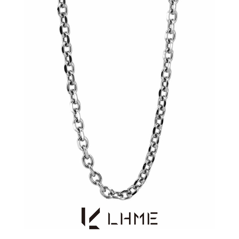 LHME リンクチェーン ミディアムネックレス/TYPE A/サージカルステンレス [エルエイチエムイー] 2NC001A (50cm)|rismtown-y