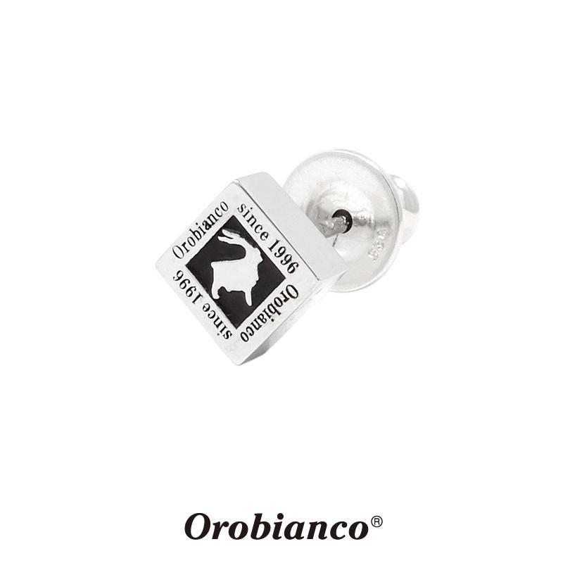 オロビアンコ ピアス OREP009BK (シルバーxブラック) シルバー925 1点売り 片耳用 Orobianco Pierce キャッチ ブランド メンズ レディース プレゼント 送料無料|rismtown-y