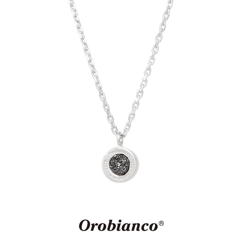 オロビアンコ ネックレス ORIN039BKS (シルバー×ブラック) ドルジークォーツ シルバー925 チェーン40+5cm Orobianco Necklace メンズ レディース プレゼント rismtown-y