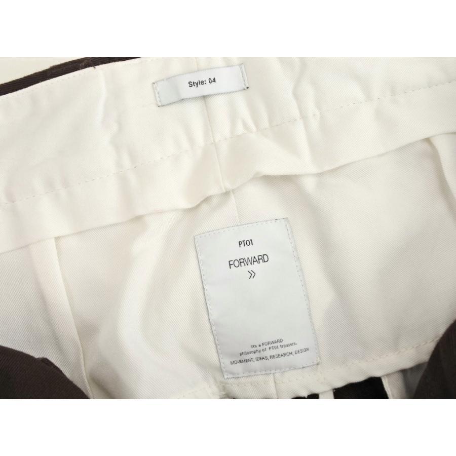 ピーティーゼロウーノ PT01 FORWARD Style:04 コットン スラックスパンツ ダークブラウン 28|ritagliolibro|08