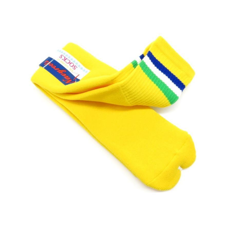 ネイビールーツ NAVY ROOTS コットン×アクリル パイルソックス 靴下 イエロー 25-27cm(ワンサイズ)|ritagliolibro|03