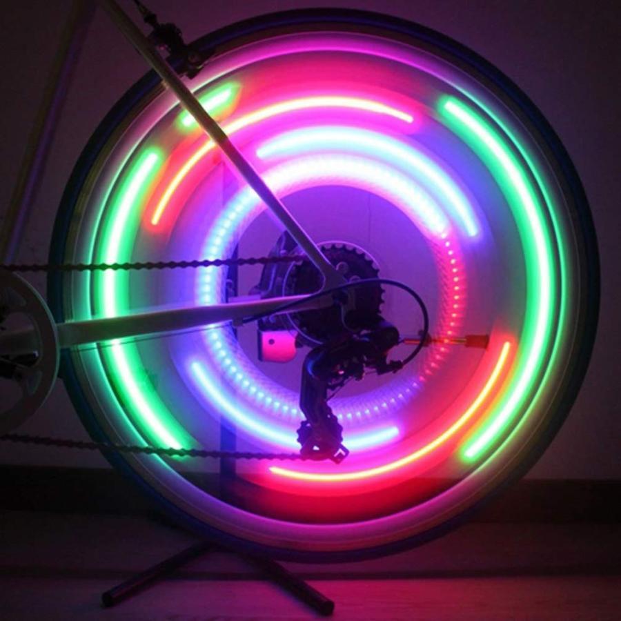 LEDGLE 自転車ホイールライト 自転車用スポークLEDライト 夜間セーフティライト 3発光モード 事故防止 夜道安全 反射板 6個セット|riyusa-s|04