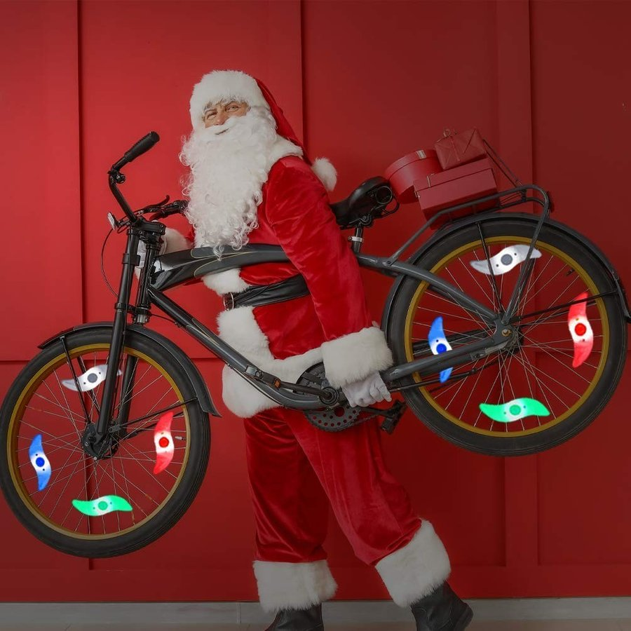 LEDGLE 自転車ホイールライト 自転車用スポークLEDライト 夜間セーフティライト 3発光モード 事故防止 夜道安全 反射板 6個セット|riyusa-s|05