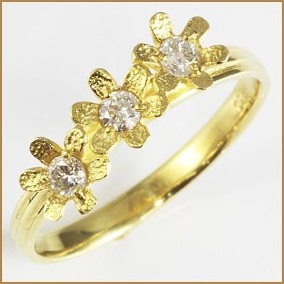 競売 リング 指輪 レディース 18金 K18 ダイヤモンド D0.18 女性 かわいい オシャレ  ring 価格見直し, 琥珀屋 0e8e71e8