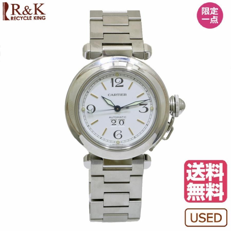 新素材新作 CARTIER SS 腕時計 ギフト 腕時計 パシャCビックデイト ステンレススチール W31055M7 ホワイト カルティエ ギフト W31055M7 プレゼント【SH-e】, 買援隊:096de9f5 --- airmodconsu.dominiotemporario.com