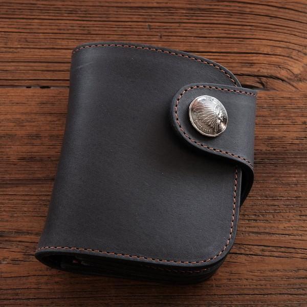 レッドムーン 財布 REDMOON ショートウォレット HR-01A-LTD オイルレザーネイビー  限定商品【送料無料】|rmismfukuoka