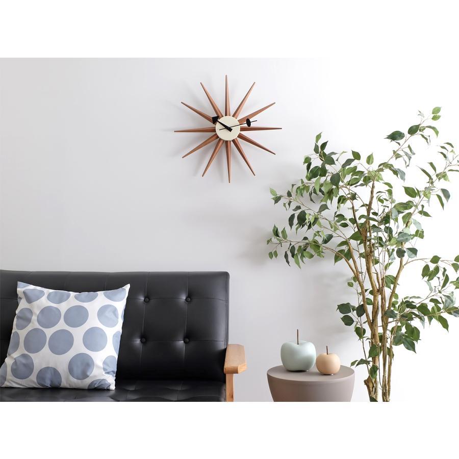 サンバーストクロック ブラウン ジョージ・ネルソン 掛時計|rmjapan